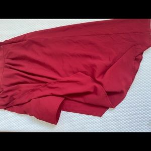 Skirts - Red uneven skirt